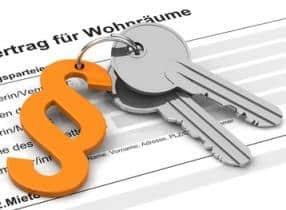 Schlüssel liegt vor Mietvertrag