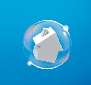 Haus in Luftblase