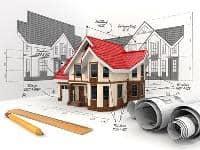Immobilienprojektentwicklung Zeichnung Entwurf Skizze