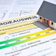 Haus steht auf Energieausweis