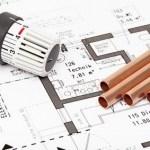 Skizze von Grundriss und Heizungsrohr