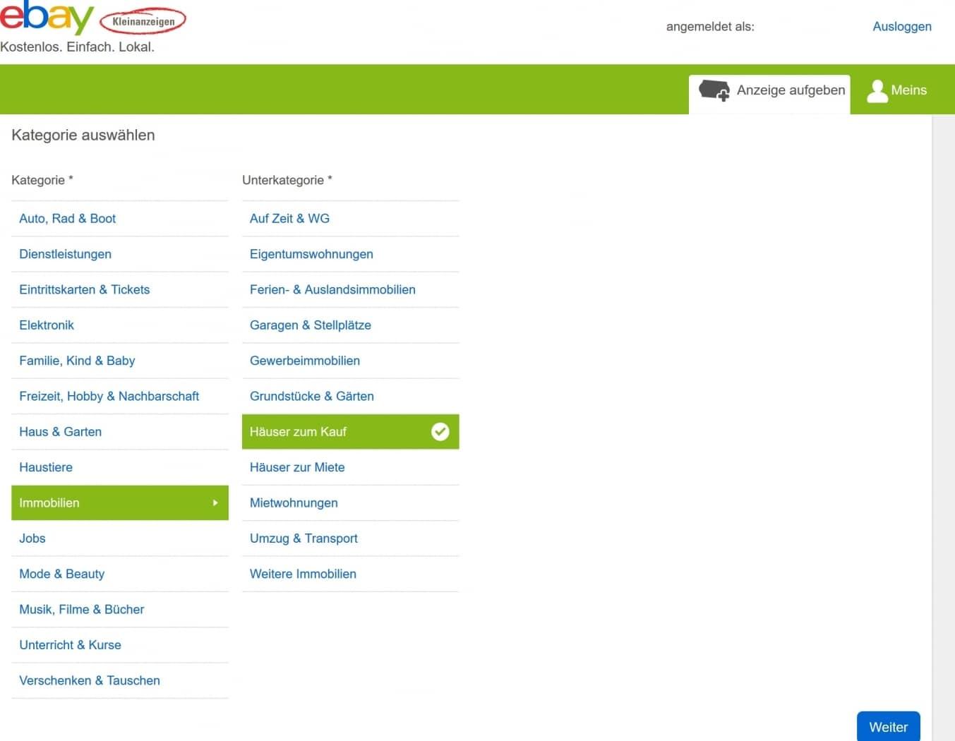 ebay-Kleinanzeigen 2 Vergleich